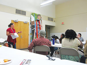 Food accessibility was the staple ingredient at SCC's community meeting held last Thursday at the Mystic Community Center. ~Photo by Douglas Yu