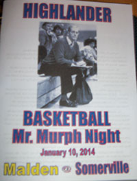 A program for the ceremony honoring Mr. Murph included reminiscences from the coaches who worked with him over the past 30 years.