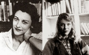(L to R) Anne Sexton,  Sylvia Plath