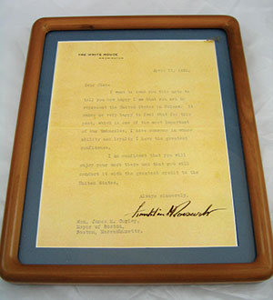 Letter signed by FDR.