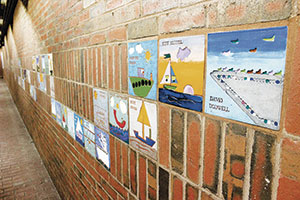 Davis Square Station: Childrens' Tile Mural by Jack Gregory and Joan Wye.