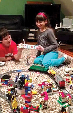 The Chiu siblings of Somerville, Owen, 11, and Nora, 8, were among the 12 children chosen from more than 600 entries to serve as the new Legoland Discovery Center Boston's Junior Construction Panel. The photo here is a still from the video they submitted for the contest.