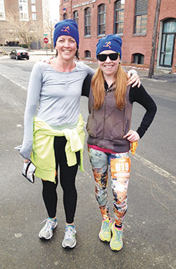 Somerville resident Beth Kaufman, right, will be running the 2014 Boston Marathon as part of the YMCA of Greater Boston's team. All funds raised by Y Marathon team members will support the YMCA of Greater Boston's teen programs.