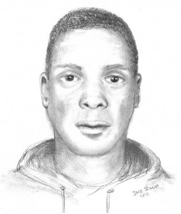 Police sketch of assault suspect — click to enlarge