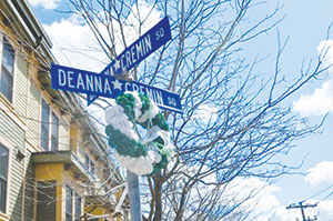 The annual wreath-hanging ceremony in remembrance of Deanna Cremin took place this Saturday, and with it came a renewed sense of determination to solve the 19-year-old murder case.