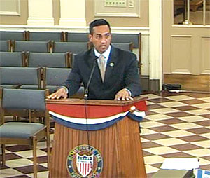 Mayor Curtatone voiced strong opposition to the Board of Alderman plan for campaign finance reform, suggesting that he would veto the law if necessary.