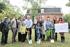 Ground has been broken for Symphony Park, a new addition to the recreational landscape of East Somerville. ~Photo by Jackie Rossetti