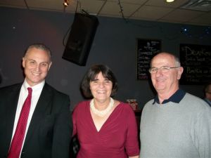 Alderman Ward 3 Bob McWatters, Middlesex District Attorney Marian Ryan and Broker/Owner Donald Norton of The Norton Group.~Photo by Ross Blouin