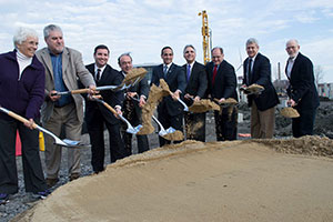 The groundbreaking ceremony at the site of the new Partners Healthcare headquarters took place last week at Assembly Row.