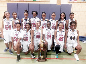 The Dominating Prospect Hill Academy Lady Wizards basketball team.