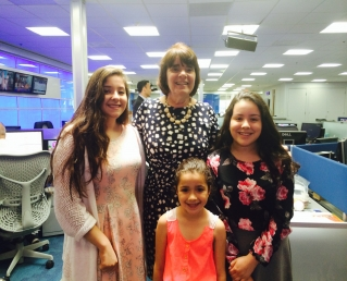 DA Ryan with PSA Project winner Karis Morales and her cousins Yari and Amilia, who appeared in her winning video. ~Photo courtesy of the Middlesex Partnerships for Youth Inc.