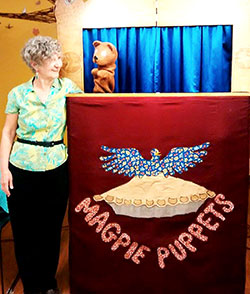 Maggie Whalen's Magpie puppets entertained at Puppet Palooza on June 1.