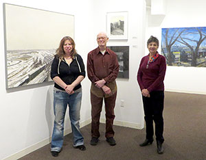 David Campbell, Cynthia Maurice and Marjorie Kaye, Director of Galatea Fine Arts Gallery, Boston, a cooperative gallery where Cynthia is a member.