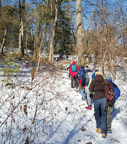 East Somerville Community School students recently enjoyed a hike at the Fells, thanks to programming made possible by the Carol M. White Physical Education Program (PEP) grant.