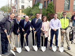 The Beacon St. Reconstruction Project officially kicked off on Monday. ~Photo by Bobbie Toner
