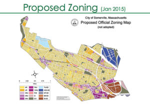 The Board of Alderman received the report of the Land Use Committee's discussions and findings regarding the new zoning overhaul for the City of Somerville.