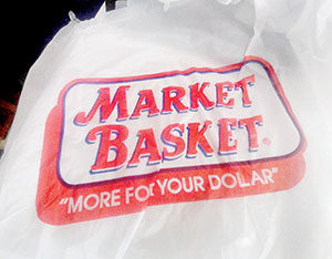Those familiar plastic bags are soon to be a thing of the past in major Somerville stores. ~Photo by Doug Holder