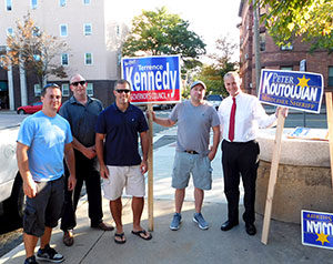 Legions of supporters were out in force last week, demonstrating their support for the candidates of their choice. Among them, Ward 3 Alderman Bob McWatters.