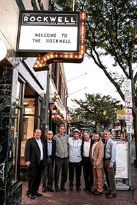 On Monday, September 12, Micah and Bob Gorin, Doug Feinburg, Gabriel Kuttner, Jimmy Tingle, Damon Leibert, Jack Connolly were in attendance at the grand opening reception of the newly dedicated performance space The Rockwell, formerly known as the Davis Square Theatre.