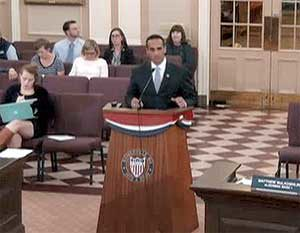 Mayor Joseph A. Curtatone continued to make the case for support of the Green Line Extension project as he addressed the most recent Regular Meeting of the City of Somerville Board of Alderman.
