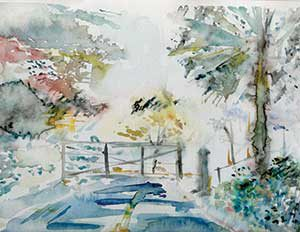 """""""Daylight Walk"""" is one of Sarah Eigen Davis' that can be viewed while on exhibition at Center for Arts at the Armory in November."""