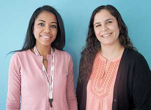 Mount Auburn Senior Resident Stephanie Antoine (left) recently attended a training session with SCES Adult Protective Services Senior Case manager Norah Al-Wetaid, as part of a collaborative training on how the organizations can work together to support health and well-being. ~ Photo by Nathan Lamb