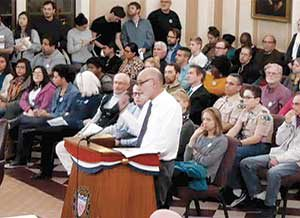 The Aldermanic Chambers saw a packed house last week as concerned parties gathered for a public hearing on Community Benefits Agreements.