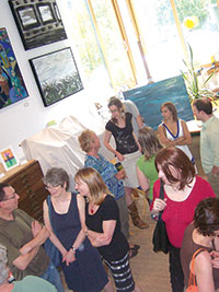 Many visitors attended and enjoyed last weekend's open studios event at Brickbottom.